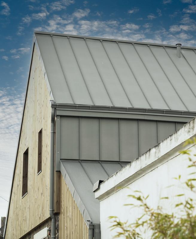extension bardage et toiture zinc