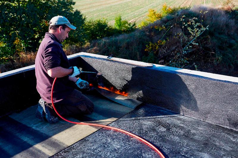 entretien d'un toit plat